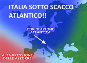 """ITALIA SOTTO """"SCACCO"""" ATLANTICO. PIOGGE E SOLE COME MARZO VUOLE…"""